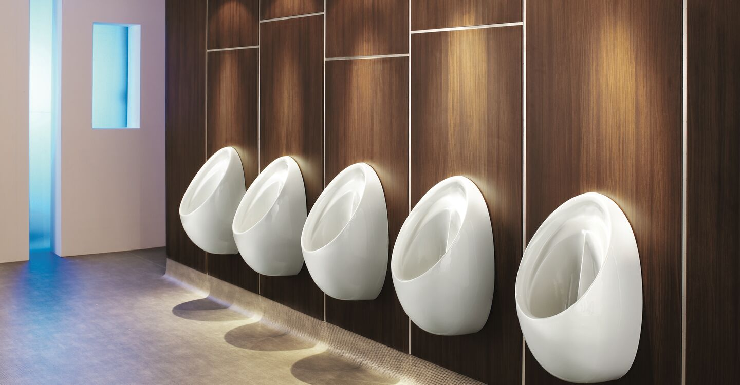 Connecting urinal set