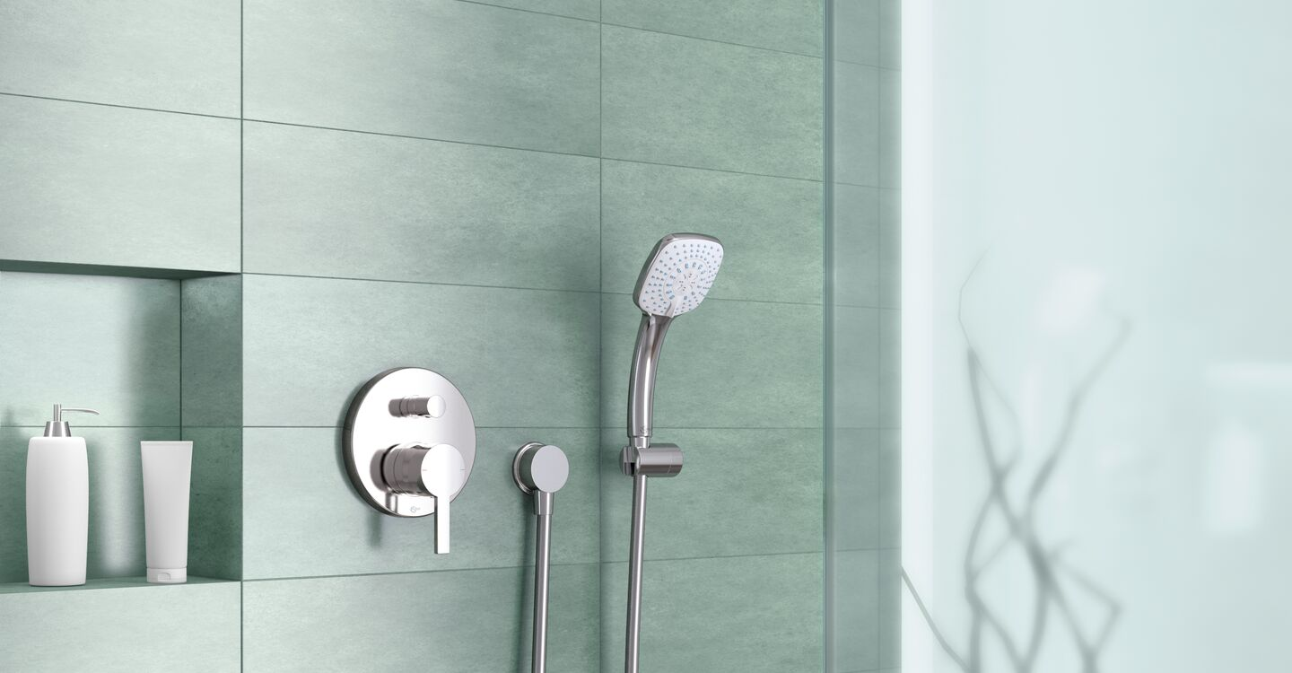 Shower head S1 Ø 100 mm with angle arm