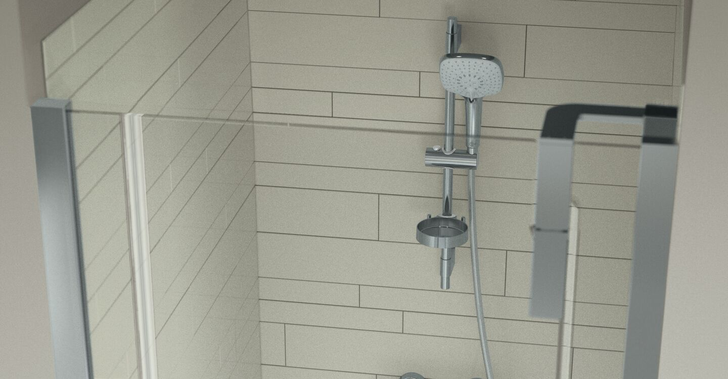 Thermostatic shower mixer without accessories