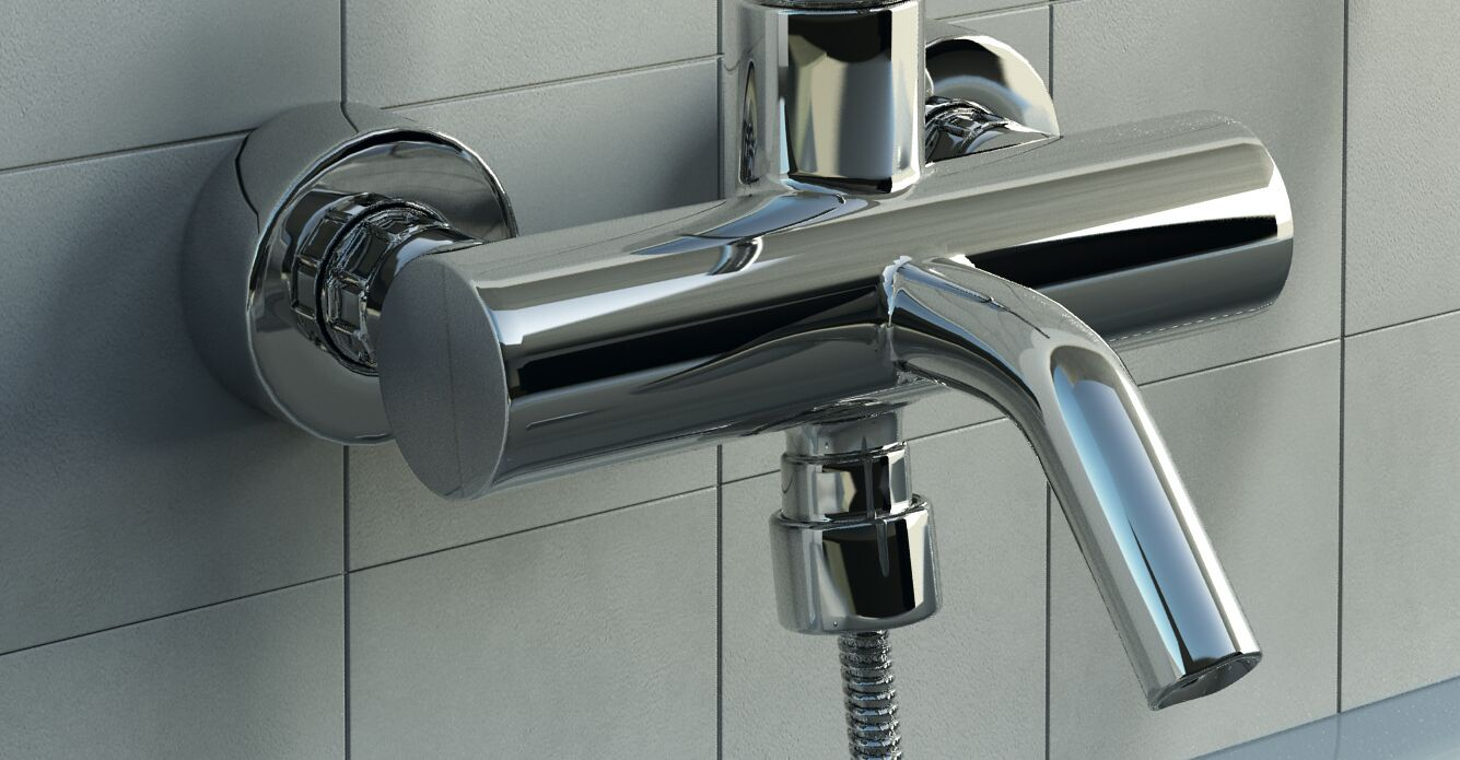 Wall-mounted shower mixer