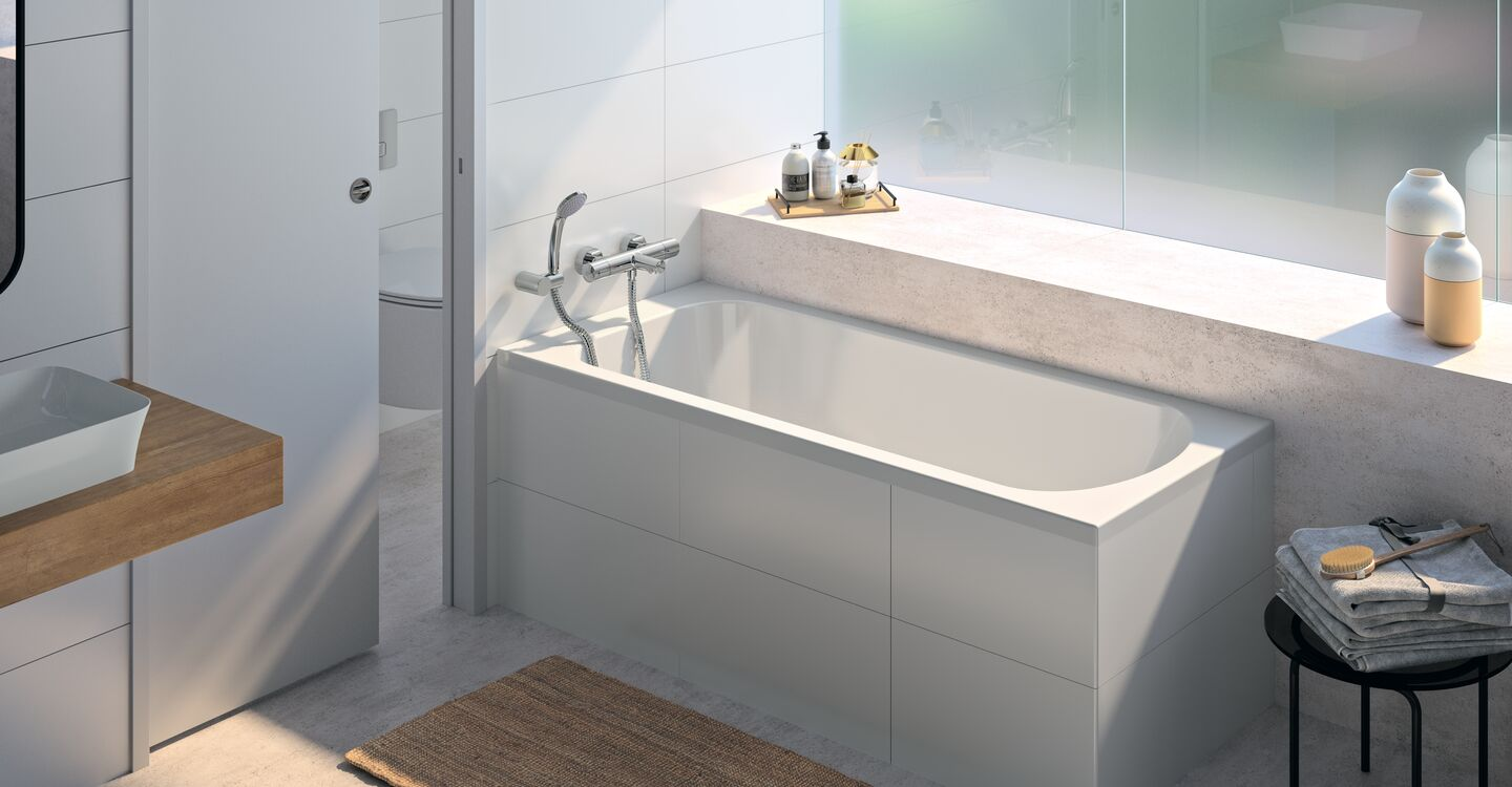 Rectangular bath 170 x 70 cm