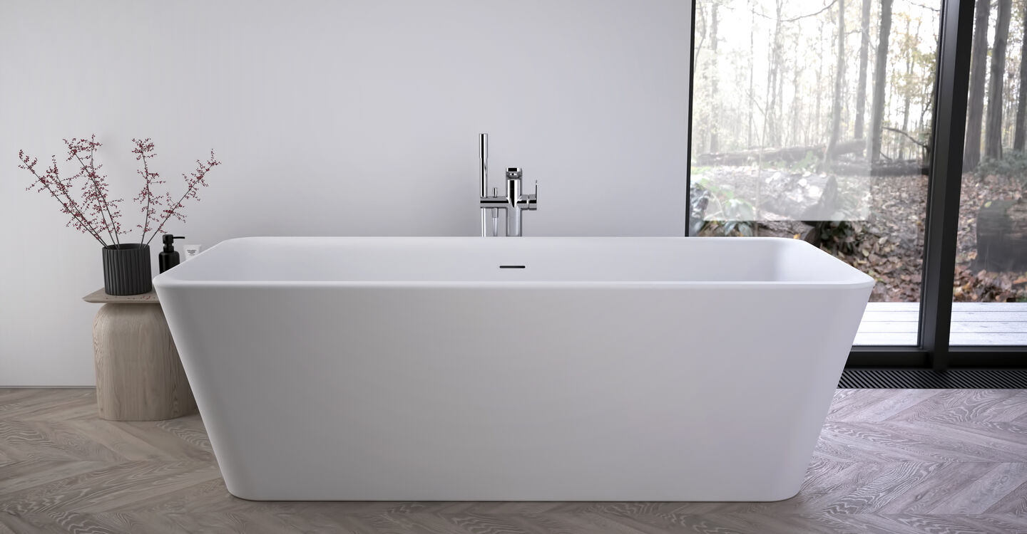 Freestanding double-ended bath 180 x 80 cm